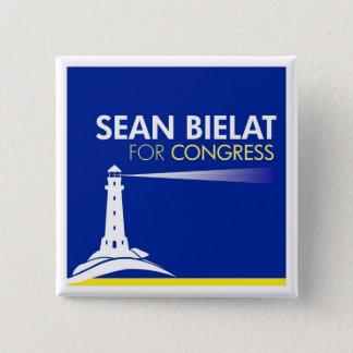 議会ボタンのためのショーンBielat 5.1cm 正方形バッジ