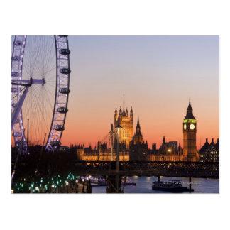 議会及びロンドンの目の家 ポストカード