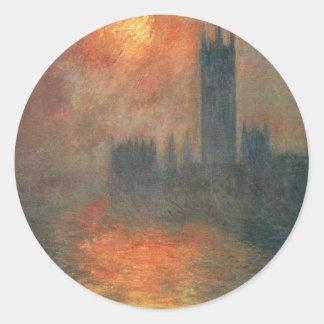 議会、クロード・モネ著日没の家 ラウンドシール