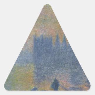 議会、クロード・モネ著霧効果の家 三角形シール