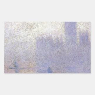 議会、クロード・モネ著霧効果の家 長方形シール