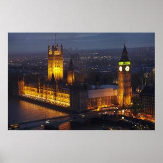 議会、ビッグベン、ウエストミンスターの家 ポスター