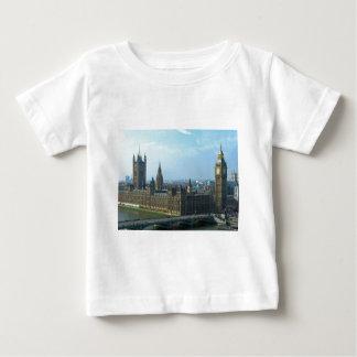 議会-ロンドンのビッグベンそして家 ベビーTシャツ