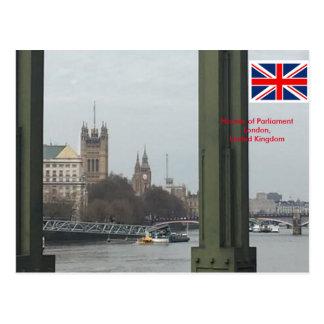 議会、ロンドンイギリスの家 ポストカード