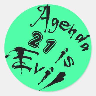 議題21は邪悪な緑の背景です ラウンドシール