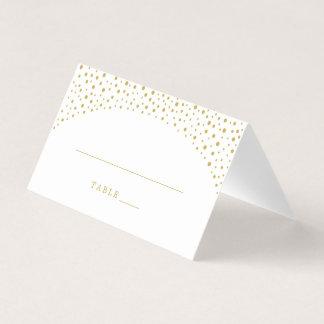 護衛の座席表|のエレガントな金ゴールドの紙吹雪 プレイスカード