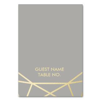 護衛カードを結婚する幾何学的な|の鳩の灰色および金ゴールド カード