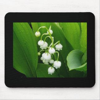 谷のマウスパッドの白い花ユリ マウスパッド