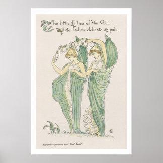 谷のユリ、植物相のFeastから、1901年(colo ポスター