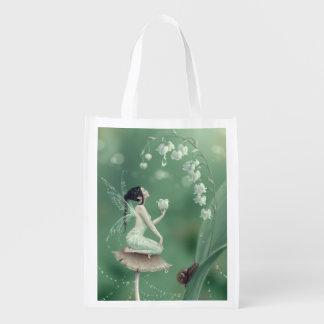 谷の妖精の再使用可能な買い物袋のユリ エコバッグ