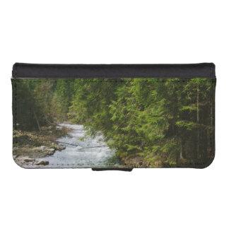 谷の山の川、自然、景色 iPhoneSE/5/5sウォレットケース