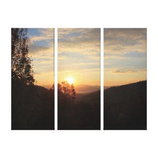 谷の日の出 キャンバスプリント