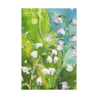 谷の水彩画のプリントのLilly キャンバスプリント