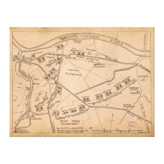 谷の炉の野営の地図(1778年12月1777 6月) キャンバスプリント