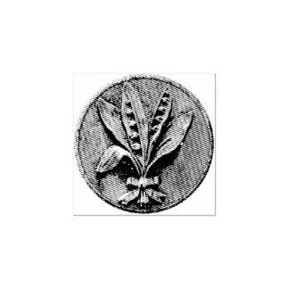 谷の版木、銅版、版画のユリ ラバースタンプ