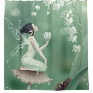 谷の花の妖精のシャワー・カーテンのユリ シャワーカーテン
