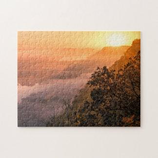 谷の霧の日の出 ジグソーパズル