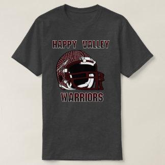 谷のHighSchool幸せなテネシー州の戦士 Tシャツ