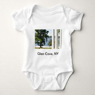 谷間の入江の子供のTシャツ ベビーボディスーツ