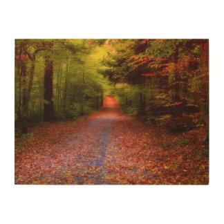 谷間の森林 ウッドウォールアート