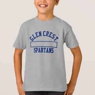 谷間の頂上の体育館のユニフォーム-青いロゴ Tシャツ