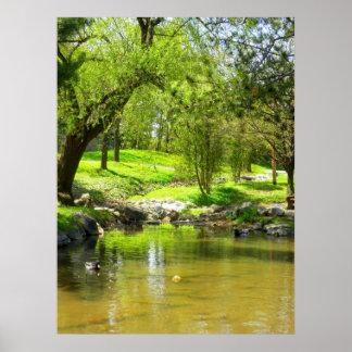 谷間公園の春 ポスター