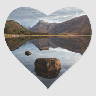 谷間Etive、Glencoeスコットランド ハートシール