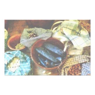 豆および種 便箋
