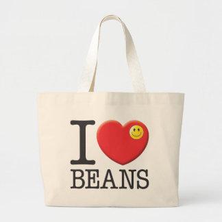 豆は、食べます ラージトートバッグ