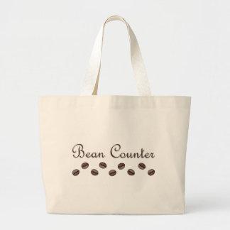 豆カウンター ラージトートバッグ