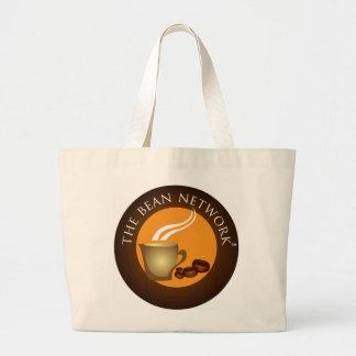豆ネットワークのバッグ ラージトートバッグ