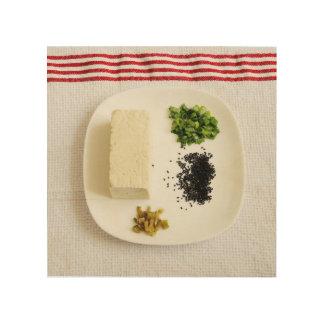 豆腐サラダ ウッドウォールアート