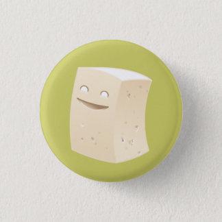 豆腐ボタン 3.2CM 丸型バッジ