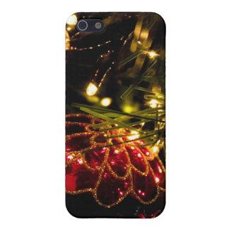 豆電球が付いているクリスマスのつまらないもの iPhone SE/5/5sケース