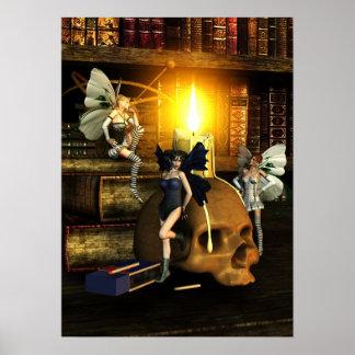 豆電球-ファンタジーの芸術ポスター ポスター