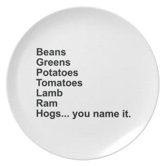 豆、緑、ポテト、トマト… プレート
