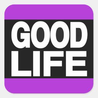 豊かな生活の長く紫色 スクエアシール
