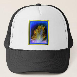 豊富で多彩な色の抽象芸術の孔雀の羽 キャップ