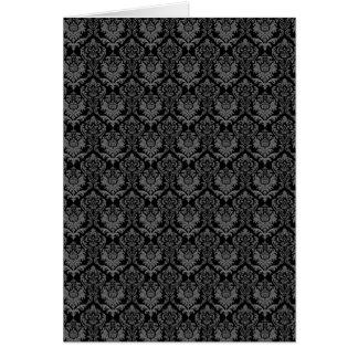 豊富で黒いダマスク織 カード