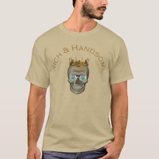 豊富で、ハンサムなスカル Tシャツ