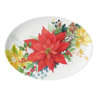 豊富なクリスマスの大皿 磁器大皿
