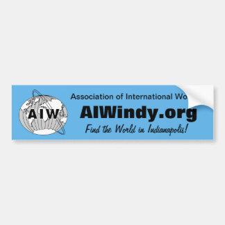 豊富なステッカーAIW Logo-AIWindy.org -世界を見つけて下さい バンパーステッカー