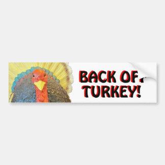 豊富なトルコは後退させます赤の黒を言います バンパーステッカー