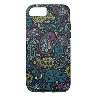 豊富な孔雀はペイズリーパターンを着色します iPhone 8/7ケース