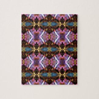 豊富な宝石の調子の抽象的なフラクタルの種族パターン ジグソーパズル