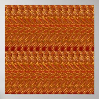 豊富な東洋の芸術: 金繊維nの絹の生地 ポスター