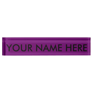 豊富な王室のな紫色(無地)の~ デスクネームプレート