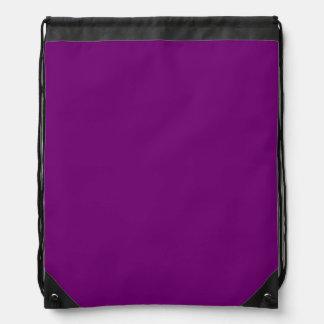 豊富な王室のな紫色(無地)の~ ナップサック