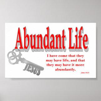 豊富な生命: 鍵- v1 (ジョン10: 10) ポスター