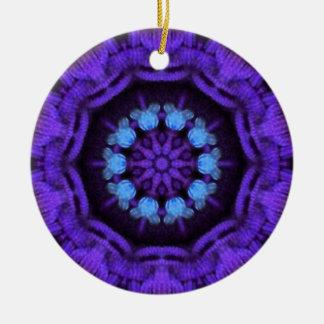 豊富な紫色および青の曼荼羅 セラミックオーナメント